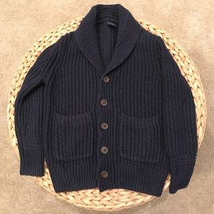 Gap Kids navy grandpa sweater cardigan 4-5T